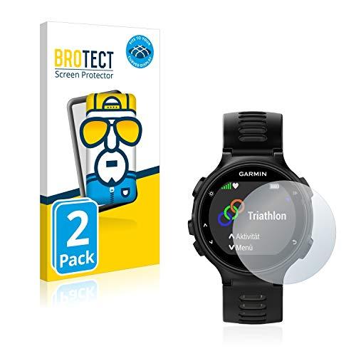 BROTECT Full-Cover Schutzfolie kompatibel mit Garmin Forerunner 735XT (2 Stück) - Full-Screen Bildschirmschutz-Folie, 3D Curved, Kristall-Klar
