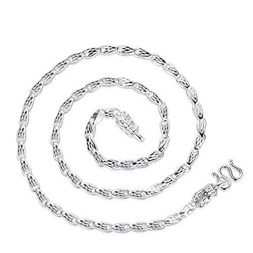 Beydodo Männer Kette Echt Silber 999 Drachen Kette 4 MM Breit 20 inch Herren Halskette Freundschaftskette