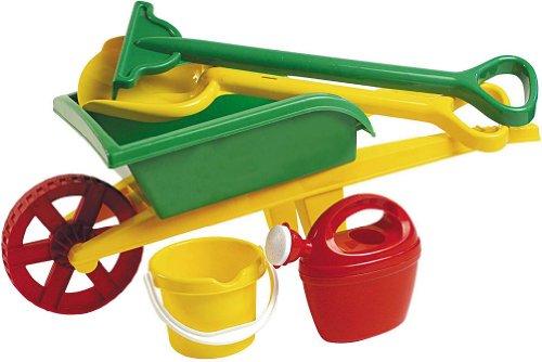 Androni- Giocattolo Carriola Con Accessori Giardino, Multicolore, 6302-0000