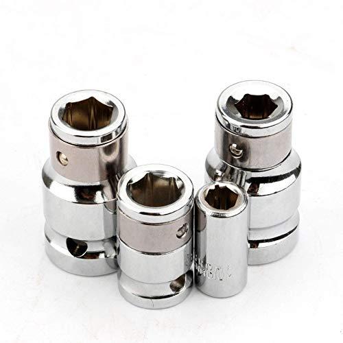 4Pcs Hex Socket Bit Joint Holder Set CRV 1/4' 3/8' 1/2' Gadget Adaptors Hex Shank Quick Release Adapter Converters Hand Tools