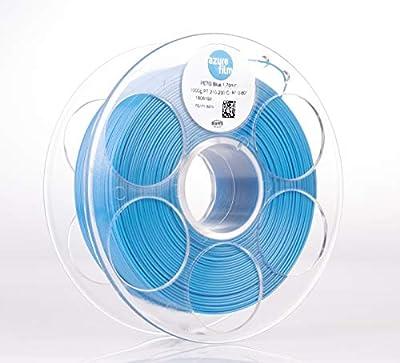 AZUREFILM PETG Special 3D Printer Filament, Accuracy +/- 0.02 mm, 1 kg Spool, 1.75 mm, Blue