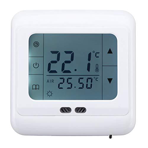 MASUNN 5-35 °C Fußbodenheizung Thermostat LCD Intelligenter programmierbarer Temperaturregler AC 220 V