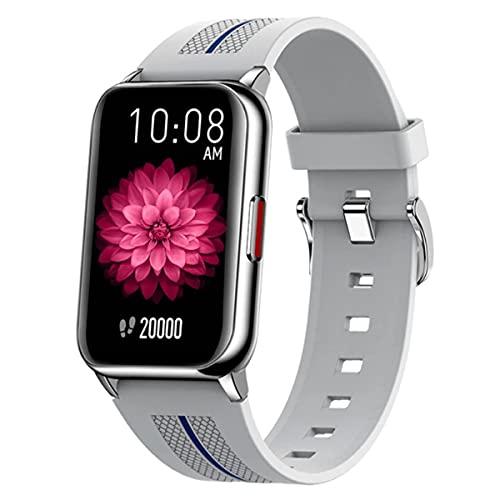 Mujer Pulsera Actividad Inteligente Pulsómetro Reloj Impermeable Smartwatch Blood Pressure Monitor de Sueño Calorías Podómetro 1.57'' Pantalla Color Cronómetros para Android iOS,Plata