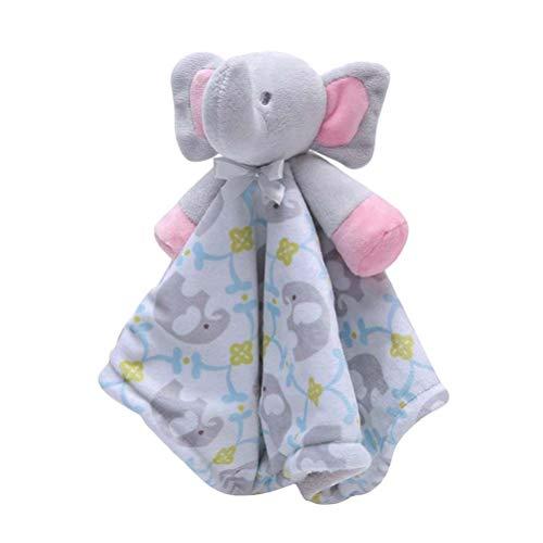SUPVOX Prime bébé sécurité couverture peluche chiffons de dentition serviette éléphant en peluche jouet apaisant pour enfants garçons filles cadeau