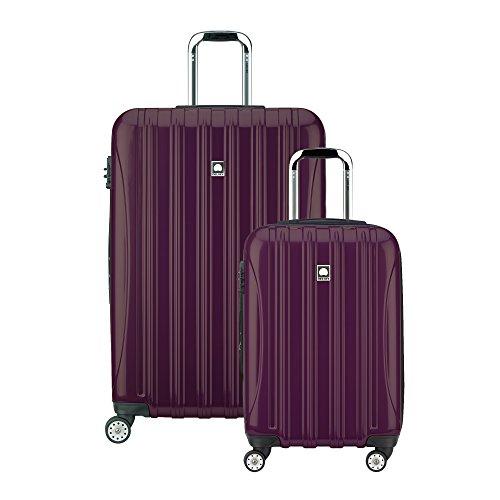"""Delsey Luggage Helium Aero Spinner Luggage Set (21""""/29""""), Plum"""