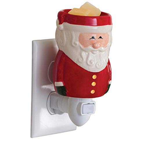 Candle Warmers Santa Clause Pluggable Fragrance Warmer (Bundle with 6pc Scented Wax Melt TM) Quickly Releases Scent