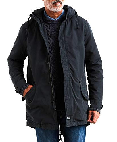 Levi's Herren Lined Fishtail Parka, Black, M