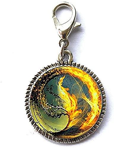 Divergent Inspired – Fondo marrón – Insurgente – Tsunami mar cremallera de cristal tirón divergente cremallera tirador