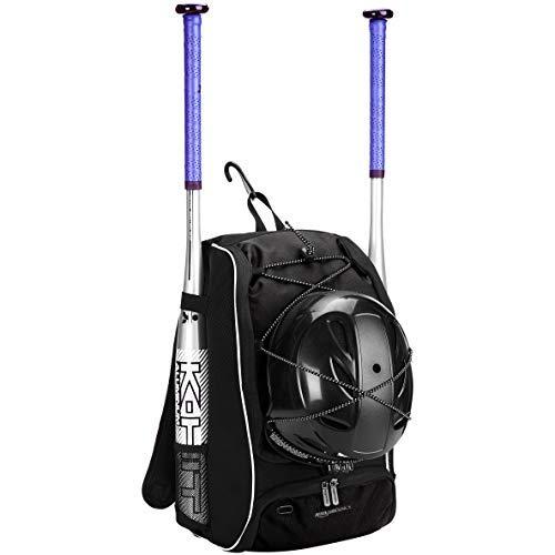 AmazonBasics - Rucksack für Baseball-Ausrüstung für Jugendliche, Schwarz