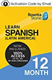 Rosetta Stone: Learn Spanish (Latin America) and UNLIMITED LANGUAGES for 12 months on iOS, Android, PC, and Mac [Activation Code by Email]