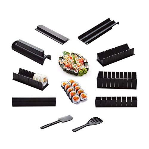 Senmubery - Set di 10 foto fai da te per sushi, Onigiri, kit di stampi per riso, accessori da cucina