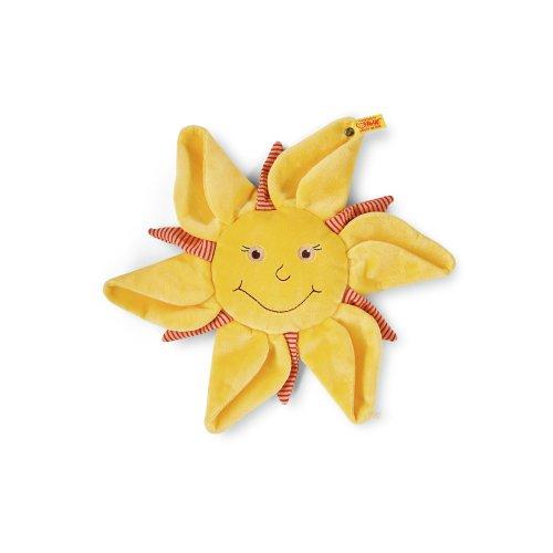 Steiff 239953 - Sonne, Mond und Sterne Schmusetuch 28, gelb