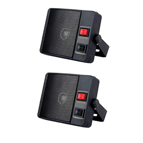 TS-750 Loudspeaker 3.5mm Jack Heavy Duty External Speaker for Yaesu Kenwood Icom CB Radio VHF Radio(2 PCS