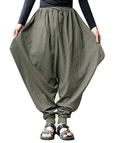 DianShaoA Pantalones para Hombres De Suelto Casual Bombachos Harén De Hippie Boho