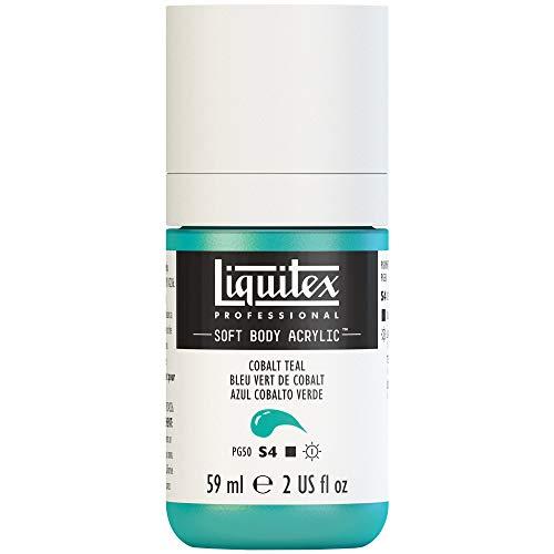 Liquitex Professional Soft Body Acrylic Paint 2-oz bottle, Cobalt Teal