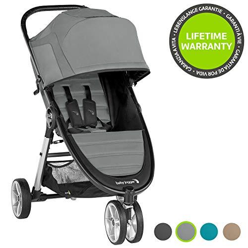 Baby Jogger City Mini 2 - Silla de paseo con 3 ruedas (sistema de plegado rápido con una sola mano), color gris
