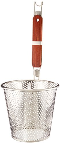ExcelSteel Perfect for Straining Noodles Pasta Basket, 6-1/4', Stainless Steel