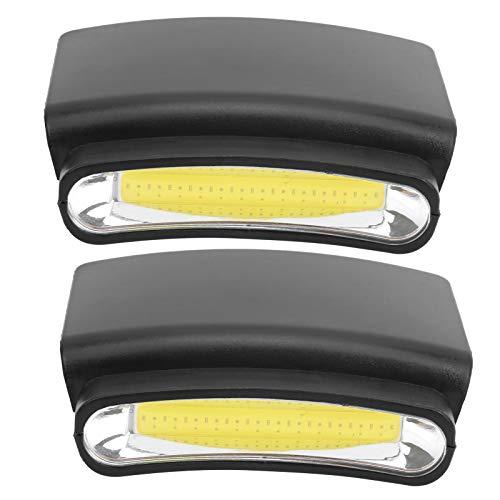 Qqmora Mini Linterna Frontal con Clip para Casquillo sin Manos, de fácil Funcionamiento, de Amplio Alcance, para enganchar en el Sombrero