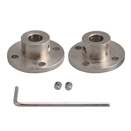 Yibuy 8–16mm Stahlflansch-Kupplungen für Motorwelle, 2 Stück, für Heimwerkerteile