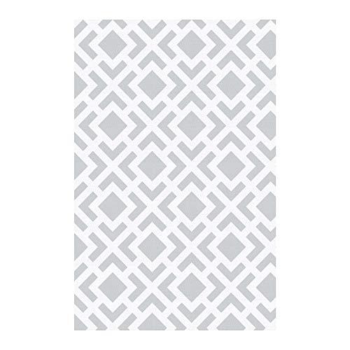 STORESDECO Alfombra vinílica Deblon – Alfombra de PVC Antideslizante y Resistente, Ideal para salón, Cocina, baño… ¡Disponible en Medidas Grandes y más Colores! (60cm x 90cm, Geométrica Gris)