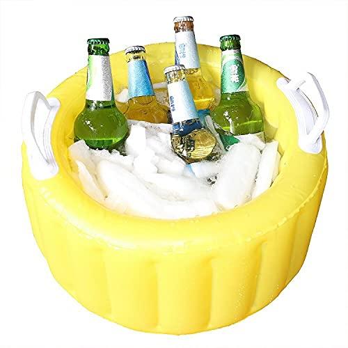 Sannofair Cubo de Cerveza Inflable, Enfriador de Cerveza, Cubo de Cerveza Hinchable para Piscina o Playa Fiesta Temática