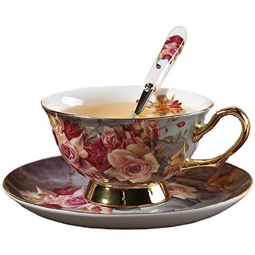 Juegos Tazas Te Porcelana Inglesa,Tazas Y Platos Desayuno,Tazas Cafe Porcelana,Juego De Té De La Tarde,Taza Café con Leche Vintage 220ml, China De Hueso