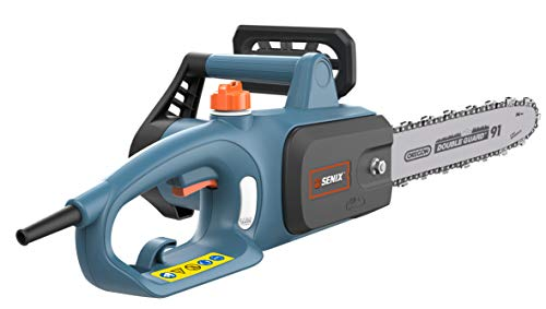 New SENIX CSE10-L 10Amp Electric Chainsaw with 14 Oregon Bar and Chain, Blue