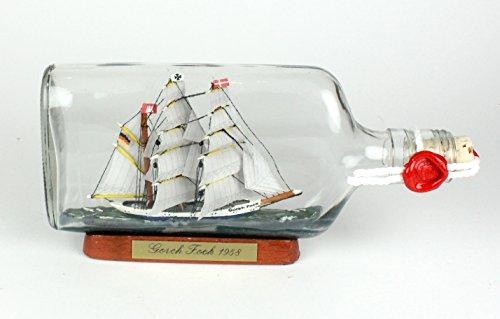 Gorch Fock Buddelschiff 375 ml Flachmann ca. 21x9 cm Buddelschiff Flaschenschiff
