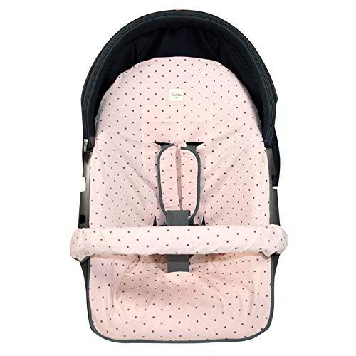Fundas BCN ® - F35/4597 - Funda para silla de paseo Stokke Xplory, Crusi o Trailz ® - Little Fun Peach