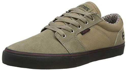 Etnies mens Barge Ls Low Top Skate Shoe, Tan/Black, 8.5 US