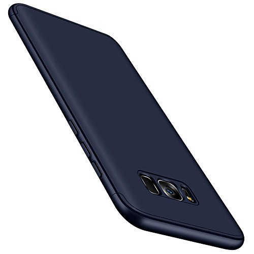 Qissy® Carcasa Samsung Galaxy S8,3 in 1 Todo Incluido Anti-Scratch Ultra Slim Protective 360 PC Case Cover para Samsung Galaxy S8 5.8'' (Azul)