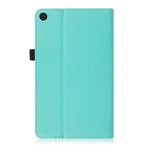 Fintie Case for Amazon Fire HD 8 Tablet (7th and 8th Generation Tablets, 2017 and 2018 Releases) - [Multi-Angle Viewing] Folio Stand Cover with Pocket Auto Wake/Sleep, Robin Egg Blue