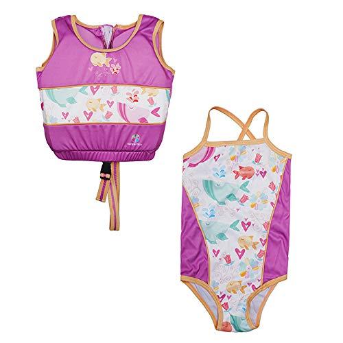 Product Image of the Megartico Girls Swim Vest Float Jacket with Swimwear Travel Holiday (Stylfish,...