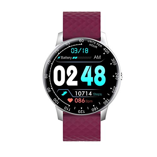 Pulsera inteligente IP68 impermeable con podómetro, frecuencia cardíaca e información de presión arterial, levanta tu mano y pantalla brillante para la presión arterial.