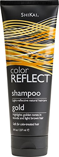 Price comparison product image Shikai Color Reflect Gold Shampoo,  8-Ounce Tubes (Pack of 3)