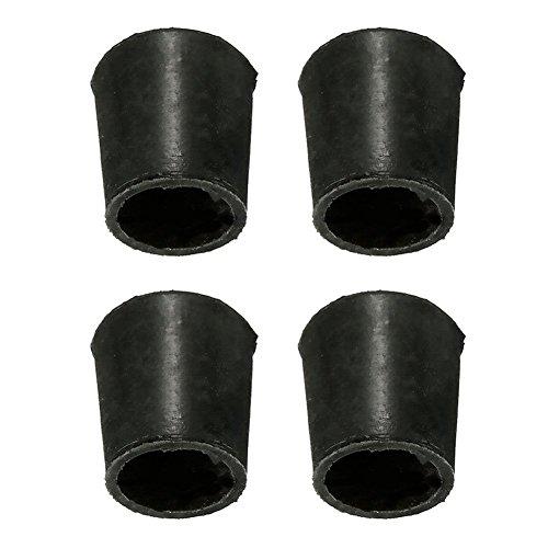 Lot de 4 embouts de protection pour pieds de chaises - Solides, anti-rayures, protection du sol - Diamètre : 16 mm/19 mm/22 mm/25 mm/32 mm/40 mm/50 mm, Voir image, 16mm