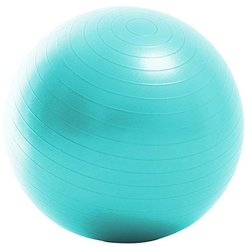 La-VIE(ラヴィ) バランスボール ノンバーストジムボール75cm アクア フットポンプ 紙メジャー付き 3B-3132