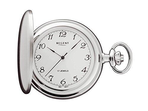 Regent - Taschenuhr - Mechanisch - Silber - Arabisch - P02