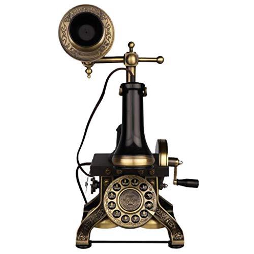 Suministros de decoración de Dormitorio de Oficina en casa de teléfono Fijo Creativo Retro Antiguo Vintage, decoración de Escritorio para el hogar