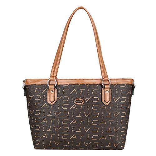 qwerasdf-ladies shoulder bag, large capacity diagonal bag, lady zipper tote bag, casual and work fashion handbag (Natural yellow color, 25 * 39 * 30 * 12cm)