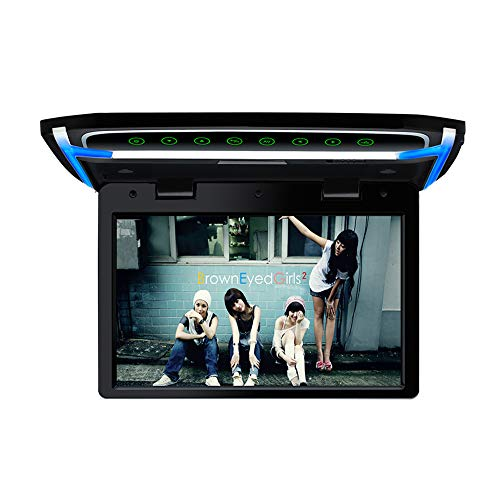 10.1 inch Car Overhead Monitor 1080P Video HD Digital TFT Screen Wide Screen Ultra-Thin Mounted Car Roof Flip Down Player HDMI IR FM USB SD