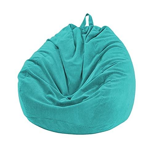 Apricot blossom Lazy Beanbag Sofás sillas de Cubierta sin Relleno Suave removible Corduroy tumbonas Billetes de Frijol de Frijoles Puff soff sofá Tatami Sala de Estar (Color : Blue)