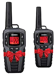 Uniden SX507-2CKHS Up to 50 Mile Range FRS Two-Way Radio Walkie Talkies W/Dual Charging Cradle, Waterproof, Floats, 22 Channels, 142 Privacy Codes, NOAA Weather Scan + Alert, Includes 2 Headsets
