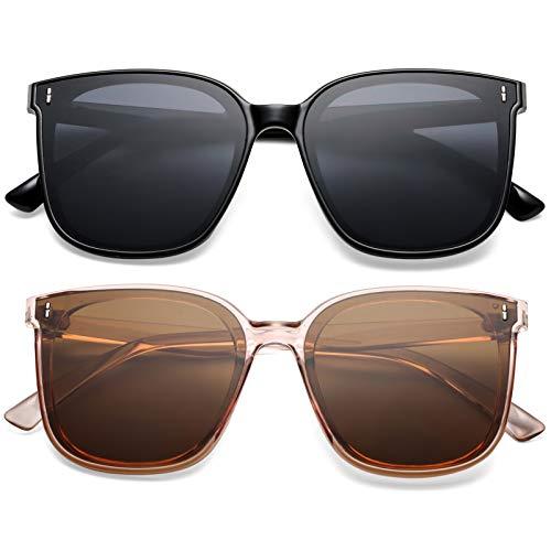 SCVGVER Trendy Oversized Sunglasses for Women Men, Vintage...