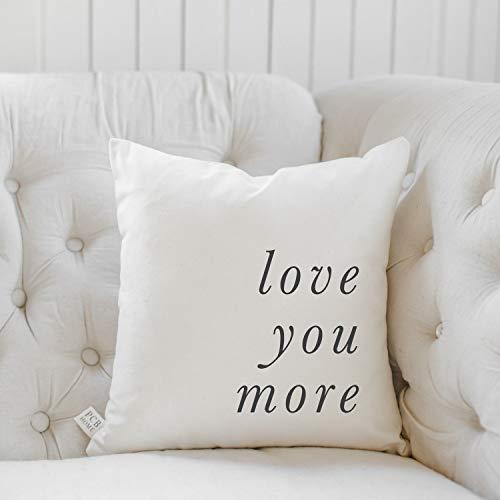 Funda de almohada para mamá y papá – Love You More Italics, decoración del hogar, regalo de boda, regalo de compromiso, regalo de inauguración de la casa, funda de cojín, funda de cojín para sofá cama