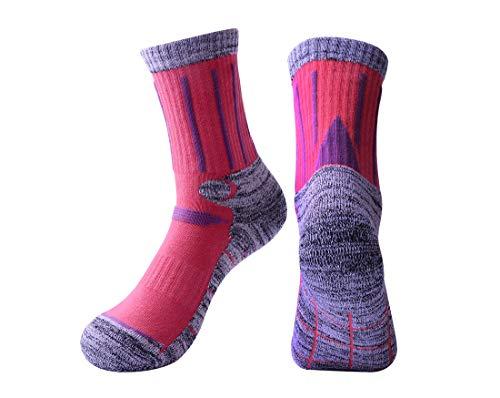 Rong-Bao Unisex Frottee Bottom Outdoor Sports Bergsteigen Ski Crew Socken M Light Grau/Rot