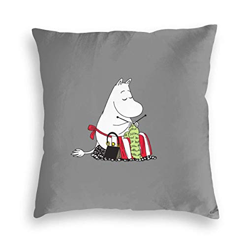 XCNGG Funda de almohadaSweet Hippo Mummy Velvet Soft Stained Square Pillowcase, Sofa Bedroom Car Cushion Cover 8 X 18 Inches 45 X 45 cm
