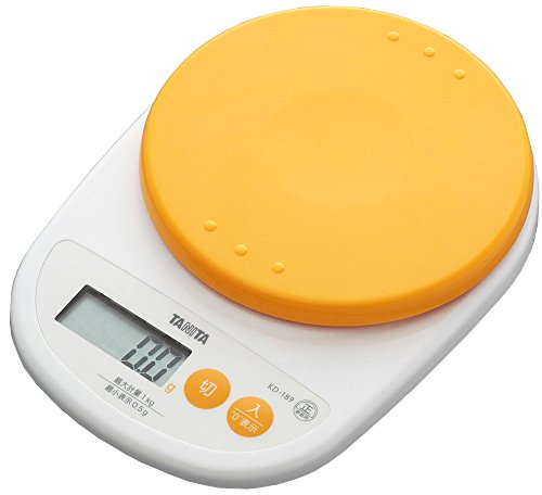 タニタ デジタルクッキングスケール 1kg(0.5g単位) アプリコットオレンジ KD-189-OR