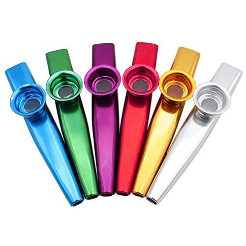 nuoshen 6 Stücke Kazoo, Kazoo Instrument Metall Kazoo Kazoo Kinder Kazoo Instrument in 6 Farben Tolles Geschenk für Kinder Musikliebhaber guter Begleiter für Gitarre