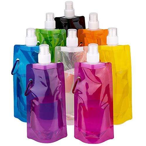 LUTER Plegable Botella de Agua Multicolor Reutilizable Plega
